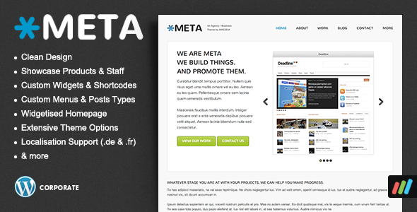 Meta WordPress Theme