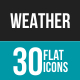 Weather Flat Icons-Graphicriver中文最全的素材分享平台