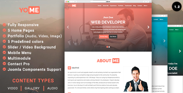 Yome multipurpose resume joomla template by leoalv themeforest yome multipurpose resume joomla template joomla cms themes yelopaper Choice Image