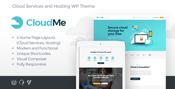 Cloudme Cloud Storage File Sharing Services By Ancorathemes Themeforest