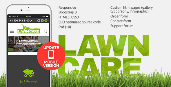 lawn care website template