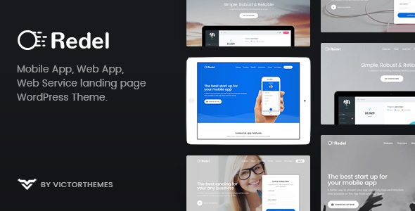 Redel - Responsive App Landing WordPress Theme by VictorThemes ...