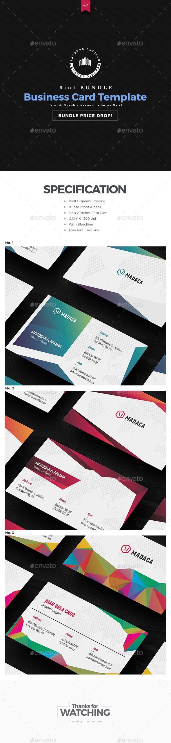 Business Card 3d Template