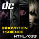 Innovation+Science Theme Portfolio & Business HTML