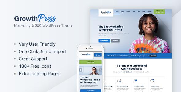 Growthpress marketing and seo wordpress theme by proteusthemesnx growthpress marketing and seo wordpress theme marketing corporate wajeb Image collections