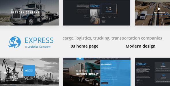 Express - Modern Transport & Logistics HTML Template by weThemez ...