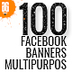 100 - Facebook Banners Mult-Graphicriver中文最全的素材分享平台