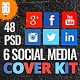 48 Social Media Cover Kit-Graphicriver中文最全的素材分享平台