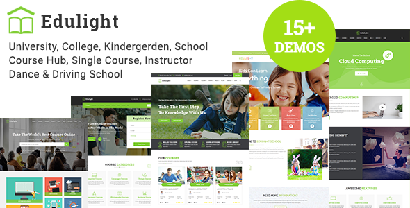 edulight multipurpose education template by ecologytheme themeforest
