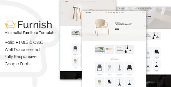 Furnish   Minimalist Furniture Template   Shopping Retail