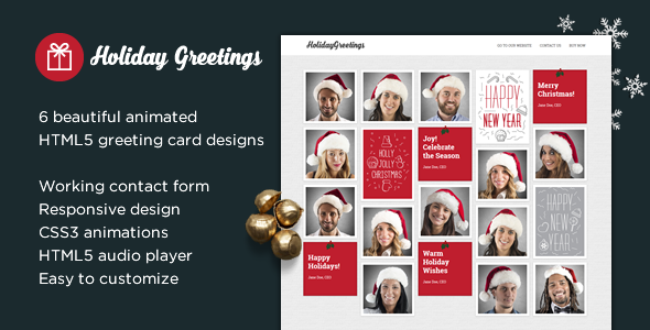 Holiday greetings landing page greeting card by themeenergy holiday greetings landing page greeting card specialty pages site templates m4hsunfo