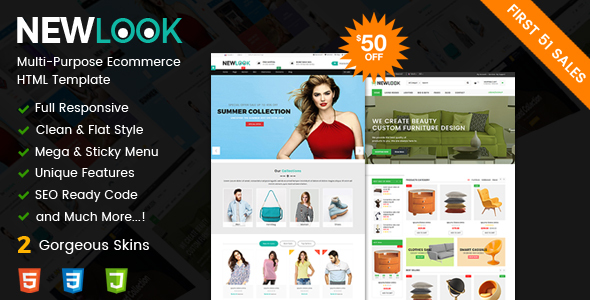 NewLook - Responsive Multipurpose E-Commerce HTML Template by ...