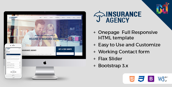 html template for insurance  Insurance - Responsive HTML Template by themes_hub | ThemeForest