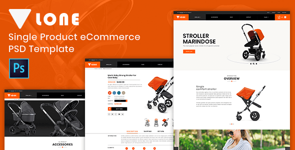 Lone Single Product ECommerce PSD Template By Themetidy ThemeForest - Single product ecommerce template