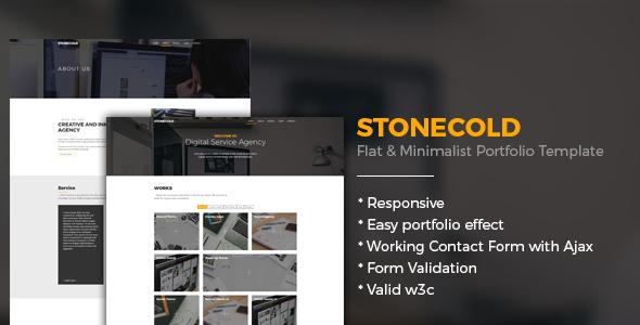 Stonecold - Flat & Minimalist Portfolio Template by igdepe | ThemeForest