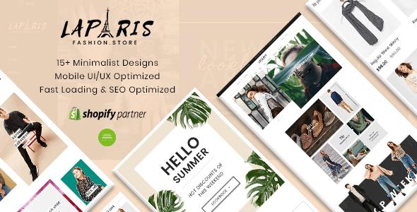LaParis - Simple Creative Responsive Shopify Theme | Sections Drag & Drop -  Shopify eCommerce