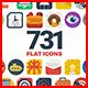 Flat Icons-Graphicriver中文最全的素材分享平台