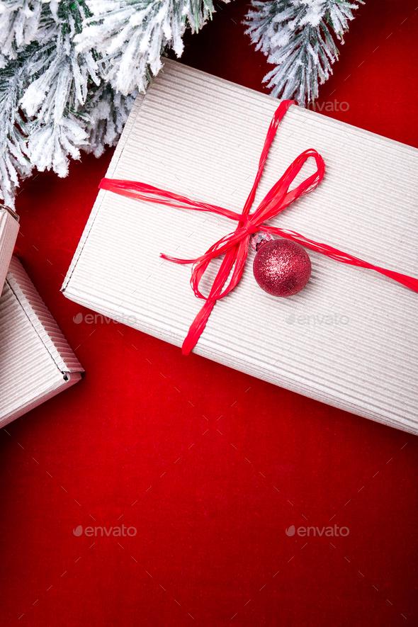 Christmas gift box. Stock Photo by bondarillia   PhotoDune