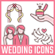 Wedding Icons-Graphicriver中文最全的素材分享平台