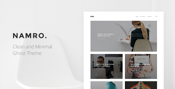 Template Namro - Clean and Minimal Ghost Theme Blogging