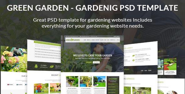 Green Garden   Lawn, Landscaping, Garden PSD Template   Business Corporate