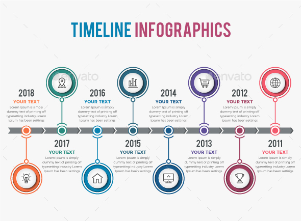 Timeline infographic motion