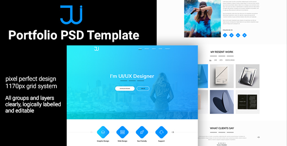Jui Personal Portfolio PSD Template by TrustTheme | ThemeForest