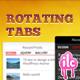 Obracanie Tabs widget WordPress