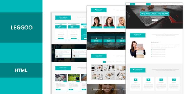 Leggoo | One Page Responsive Corporate HTML Template by leggooo ...