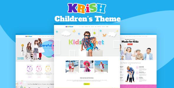 krish nursery school pre school theme by designthemes themeforest