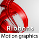 RIBBONS Lower third & Background COMBO - 7