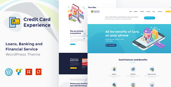 Credit Card Company And Online Banking WordPress Theme Business Corporate