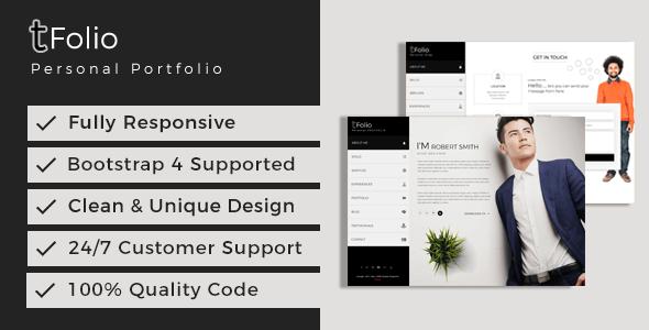 tfolio personal portfolio cv resume site template by themeix