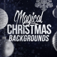 4 Christmas Backgrounds wit-Graphicriver中文最全的素材分享平台