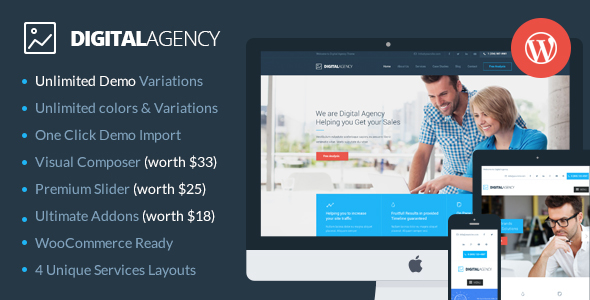 Digital Agency - SEO / Marketing WordPress Theme by SkatDesign ...