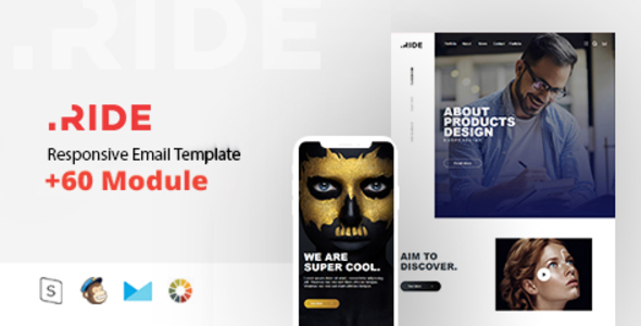 Ride Responsive Email Template Minimal By Zay ThemeForest - Minimal email template