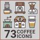 Coffee Icons-Graphicriver中文最全的素材分享平台