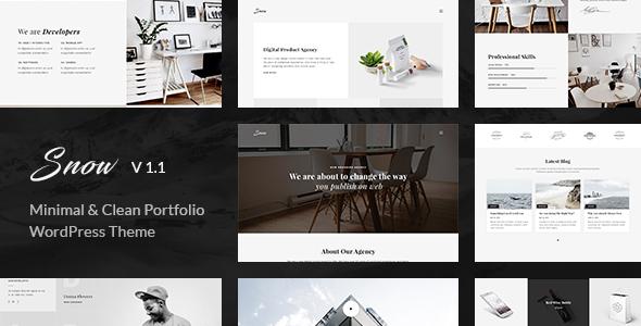 Snow | Minimal & Clean WordPress Portfolio Theme by _nK | ThemeForest