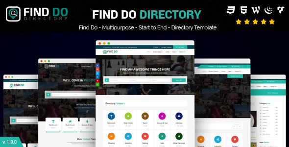 Directory Template | Find Do Multipurpose Html5 Directory Template By 99 Design Themeforest