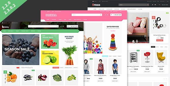 Brezza - Fruit Store Responsive OpenCart Theme by MagikCommerce ...