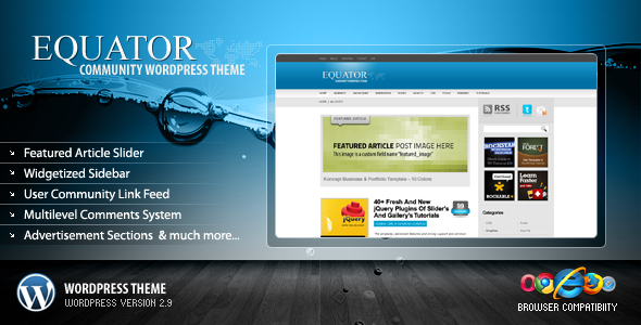 Theme forest: eQuator – WordPress Theme