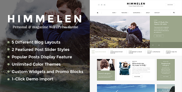 Himmelen - Personal WordPress Blog Theme by dedalx | ThemeForest