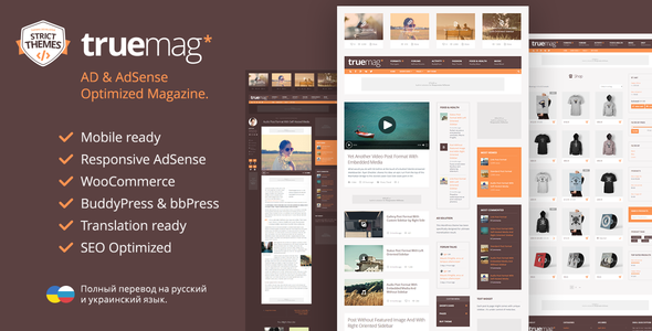 Truemag - AD & AdSense Optimized Magazine WordPress Theme by ...