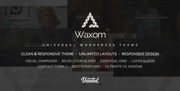Waxom - Clean & Universal WordPress Theme by Veented | ThemeForest