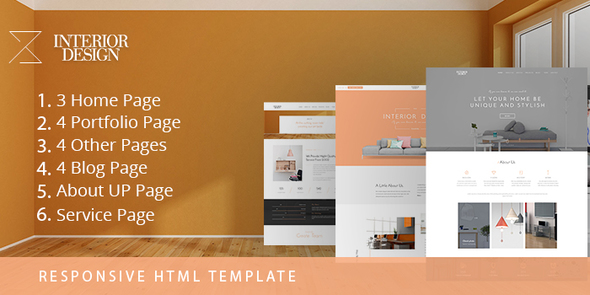 interior design html5 template for interior designer corporate site templates - Interior Design Pages