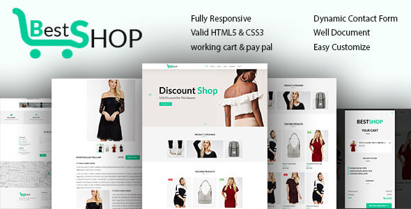 bestshope one page mini ecommerce shop templates by team90degree. Black Bedroom Furniture Sets. Home Design Ideas