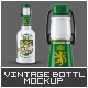 Vintage Beer Bootle Mock-Up-Graphicriver中文最全的素材分享平台