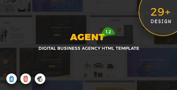 Agent - Digital Business Agency Template By Pixiefy | Themeforest