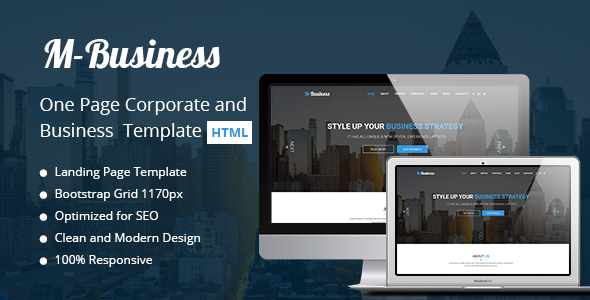 M business one page corporate and business template by themehappy m business one page corporate and business template business corporate wajeb Image collections