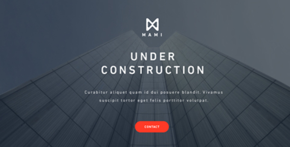 mami under construction template by hashmet themeforest